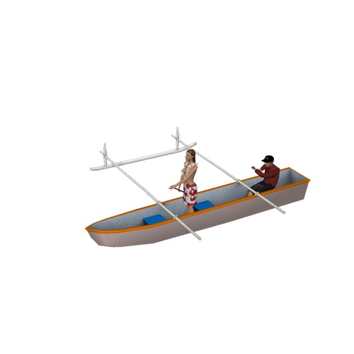 Screenshot of Canoe, outrigger, man and woman