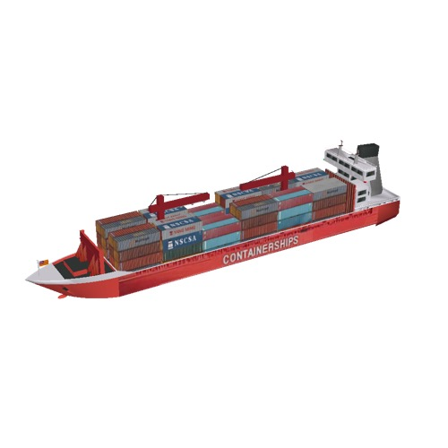 Screenshot of MV Containerships VII, with cranes