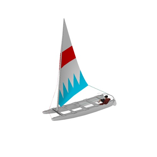Screenshot of Catamaran, sailing, man