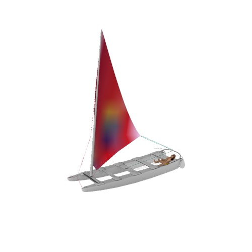 Screenshot of Catamaran, sailing, woman