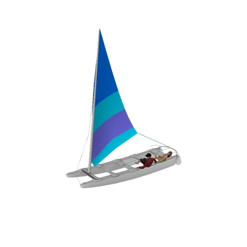Screenshot of Catamaran, sailing, man and woman