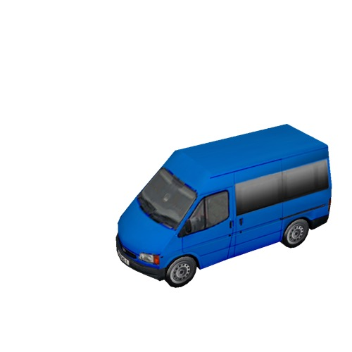 Screenshot of Minbus, Ford Transit, blue