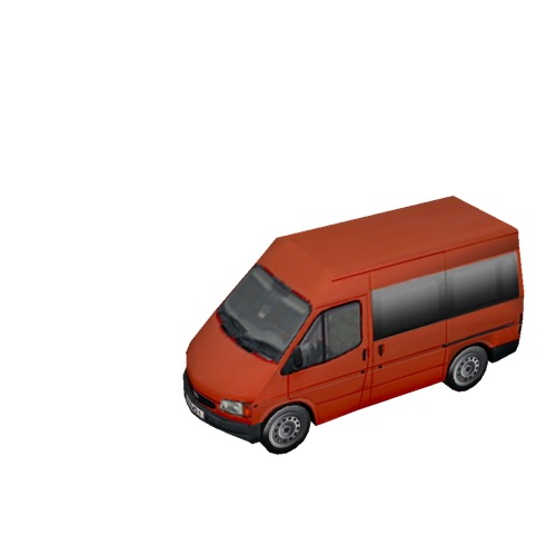 Screenshot of Minibus, Ford Transit, red