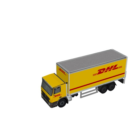 Screenshot of Commercial Box Truck, 3-Axle Mercedes, DHL