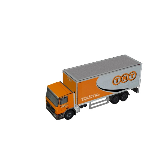 Screenshot of Commercial Box Truck, 3-Axle Mercedes, TNT