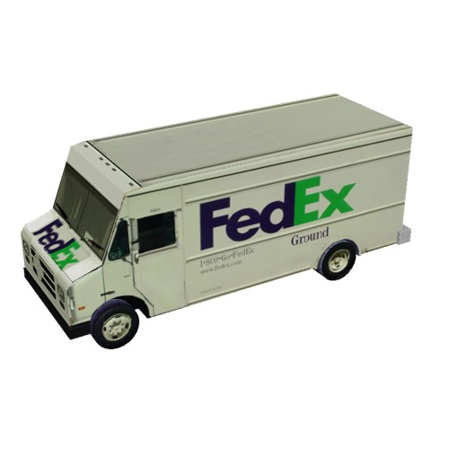 Screenshot of Box van, FedEx® Ground
