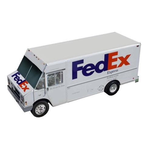 Screenshot of Box van, FedEx®