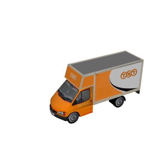 Screenshot of Commercial Ford Transit box truck, TNT