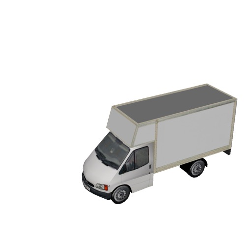 Screenshot of Commercial Ford Transit box truck, white