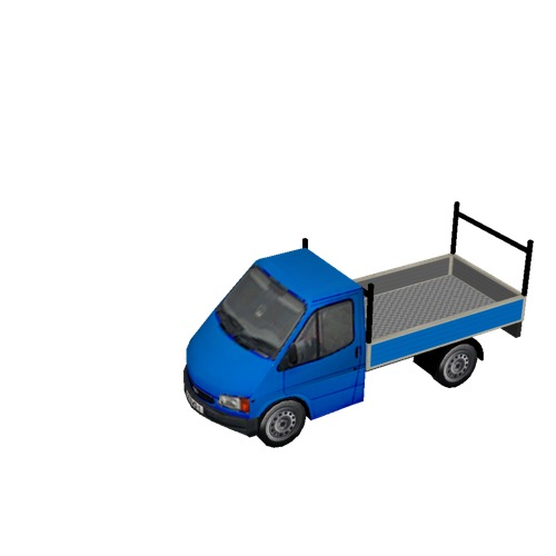 Screenshot of Pickup, Ford Transit, blue