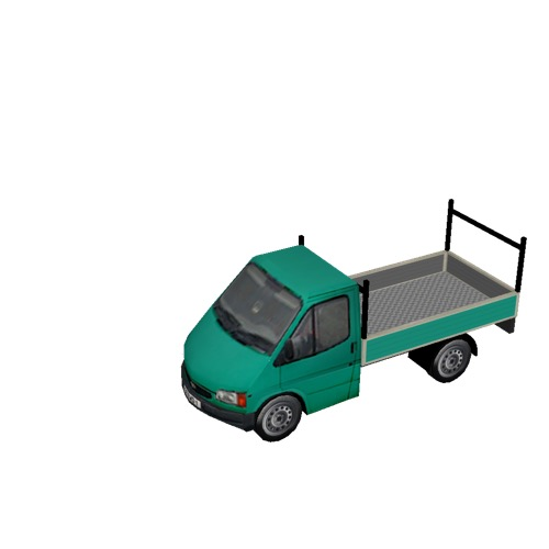 Screenshot of Pickup, Ford Transit, green
