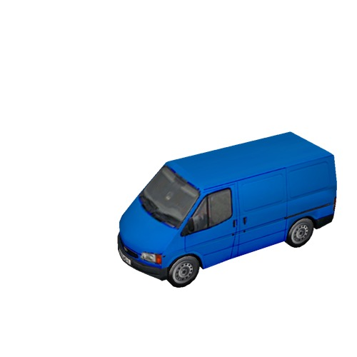 Screenshot of Commercial Ford Transit van, blue