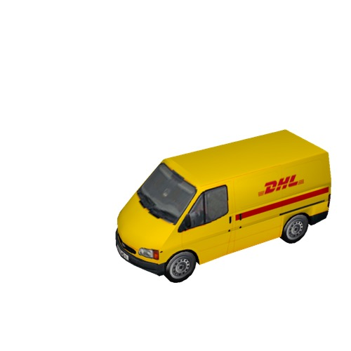 Screenshot of Commercial Ford Transit van, DHL