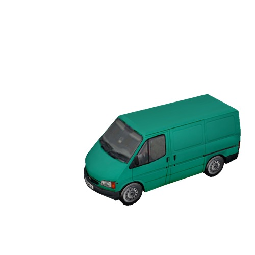 Screenshot of Commercial Ford Transit van, green