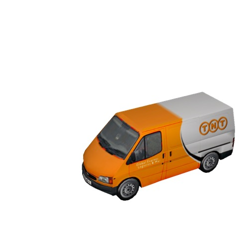 Screenshot of Commercial Ford Transit van, TNT