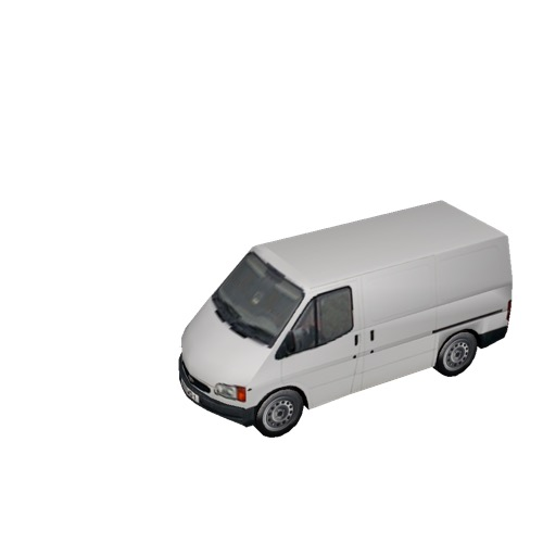 Screenshot of Commercial Ford Transit van, white