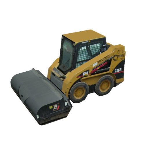Screenshot of CAT® Skid Steer with Broom