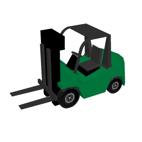 Screenshot of Fork Lift, small, green