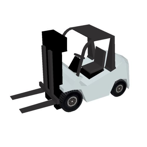 Screenshot of Fork Lift, small, white