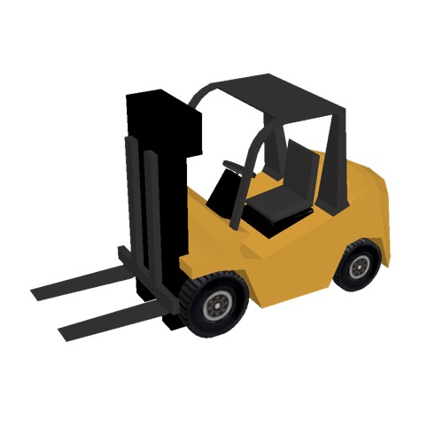 Screenshot of Fork Lift, small, orange