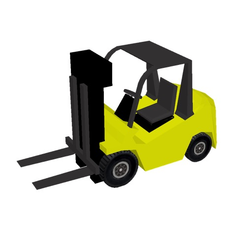 Screenshot of Fork Lift, small, yellow